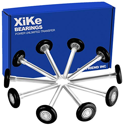 Buy Discount XiKe 10 Pack 2 in Nylon Garage Door Roller Use 6200ZZ Shield Bearing, Rotate Quiet and...