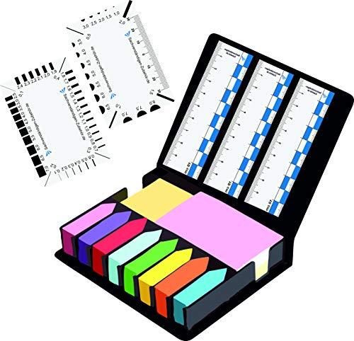 Markierungsbox inkl. 5 x Rissbreitenlineal | Gutachter Ausrüstung | Sachverständiger| Magnet Lineal für Kfz Wertermittler | Spaltmaß Risslineal & Messwerkzeuge für Immobilienbewertung | Wertgutachten