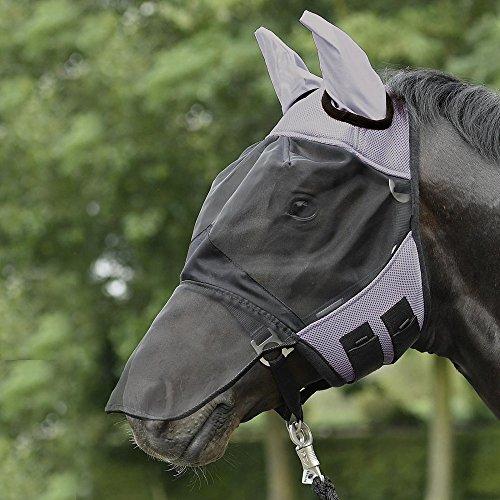 BUSSE Fliegenmaske FLY COVER PRO, Pony, grau/schwarz