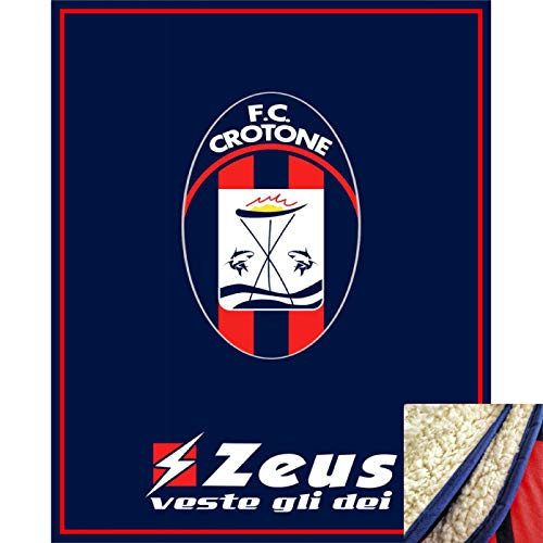 Zeus Plaid SCADOTTO Sport Misure 130x160 cm. CROTONE Calcio.