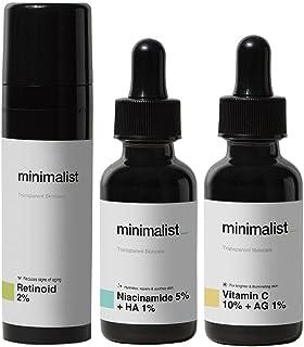 Minimalist Daily Multi Vitamin (A, B3 & C) Dose For Healthy, Glowing Skin | Antioxidant Rich Face Serums & Anti Aging Nigh...