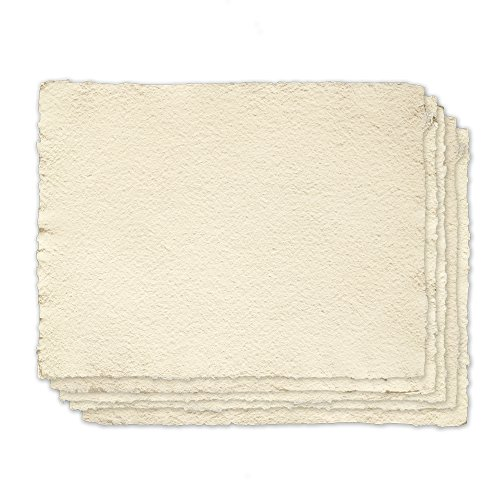 Indigo Artpapers 75% Cotton/25% Flax Blend Cold-Pressed Handmade Paper for Watercolors, 16 x 20 Inches, 300 GSM, 5 Sheets (CF3001620CP)