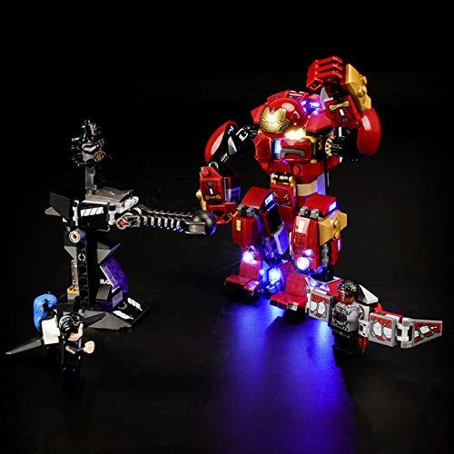 Licht-Set Für (Marvel Super Heroes Hulkbuster) Modell - LED Licht-Set Kompatibel Mit Lego 76104 (Modell Nicht...