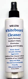 MB10W Whiteboard Cleaner Spray 8 Ounces, Removes and Prevents Ghosting and Smudging from Dry Erase Boards, Liquid Chalk Markers - Safe & Non-Toxic, 100% Made in North America by Solutions MB (1 Pack)