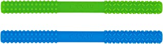 Hollow Teething Tubes (6.8'' Long) – Teething Toys for Babies 0-6 Months 6-12 Months - BPA Free/Freezer Free - Different Soft Textures for Infant and Toddlers (2 Pack)