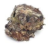 Neborn Sonnenschirm Baseball Caps,Breiter Krempe Flap Hut 3D Blätter Camouflage Ghillie Caps Sniper...