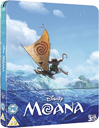 Moana 3D (Includes 2D Version) - Limited Edition Steelbook Blu-ray