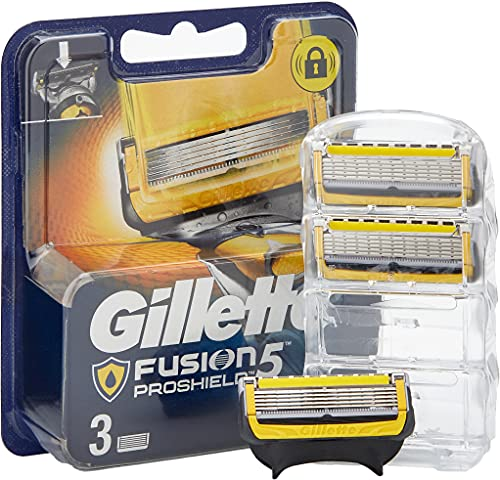 Gillette Fusion ProShield Cuchillas de Afeitar Hombre, Paquete de 3