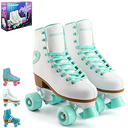 Osprey Retro Quad Roller Skates for Adults – Women's Lace Up High Top...
