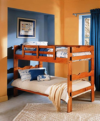 Chelsea Home Furniture Twin Over Twin Split Scalloped Bunk Bed 56 H Honey Buy Online In Andorra At Andorra Desertcart Com Productid 6659085