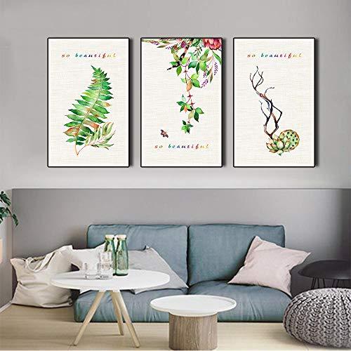 Canvas schilderijen druiven en planten home decor muurschilderingen eenvoudige kunst aan de muur posters en prints muur foto's voor slaapkamer- 30x40cmx3pcs geen frame