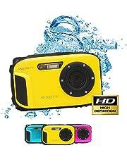 Aquapix Ocean onderwater-digitale camera met Li-Ion-accu, geel