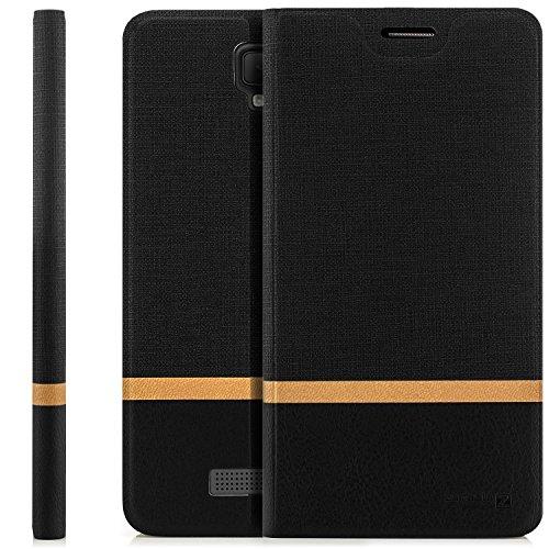 zanasta Tasche kompatibel mit ZTE Blade L5 Plus Hülle Flip Case Schutzhülle Handytasche mit Kartenfach Schwarz