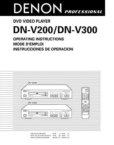 Denon DN-V200 DVD Player Owners Instruction Manual Reprint [Plastic Comb]