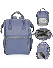 Hynes Eagle Multipurpose Diaper Backpack Baby Travel Bag for Dad or Mom One Size Purple HE0834-7