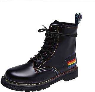 ZOSYNS Enkellaarzen voor dames, winter, leren schoenen, korte laarzen, warm gevoerd, modieus, casual, comfortabel, antisli...