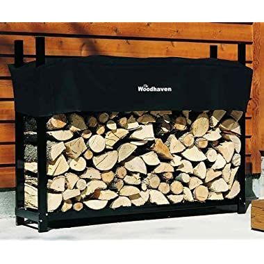Woodhaven 5 Foot Firewood Rack w Standard Cover