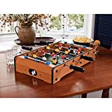 fashioneo Mid-Sized Foosball, Mini Football, Table Soccer Game with 4 Rods- 20 Inches