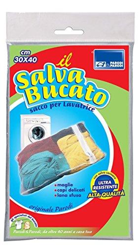 Parodi&Parodi, il salva bucato, art. 163, sacco rete proteggi bucato per lavatrice 30x40 cm, ideale per lavare accessori, collant, calzini, elastici, biancheria ecc., adatto sino a 1 kg di capi