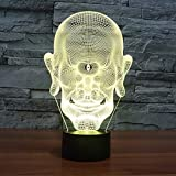 Solo 1 pieza Mesa LED Monocular especial Interruptor táctil 3d Cambio de color 7 Accesorios de iluminación 3D Luz de noche LED USB