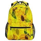 Oarencol mochila de acuarela de girasol, vintage, floral, mochila de viaje, senderismo, camping, escuela, portátil
