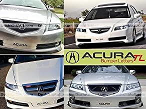 Black Front Bumper Letter Inserts for Acura TL 2004 2005 2006 2007 2008 Not Decals