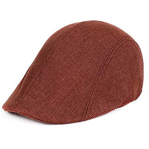 LHL Gorra plana para hombre, de algodón, suave, apta para periódicos, invierno, primavera, otoño, boina