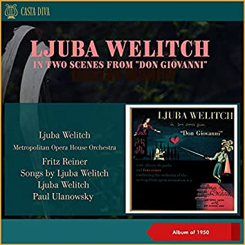 """Ljuba Welitch in Two Scenes from """"Don Giovanni"""" - Songs by Ljuba Welitch (Album of 1950)"""