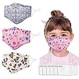 3 Pièces de Coton Doux Réutilisable les Bandes Daluminium pour la Protection de la Mode Unisexe pont de Nez-Enfants