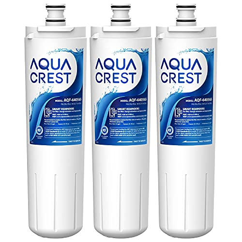 AQUACREST Replacement 640565 Refrigerator Water Filter, Compatible with Bosch 640565, EVOLFLTR10 AP3961137, 3M Cuno CS-52, Whirlpool WHKF-R-PLUS (Pack of 3)