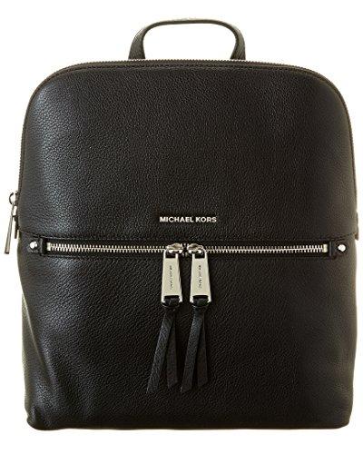 Michael Kors - Bolso mochila para mujer negro negro/plata