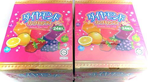 やおきん ダイヤモンドリングキャンディ 2箱セット(ミニシール付き)