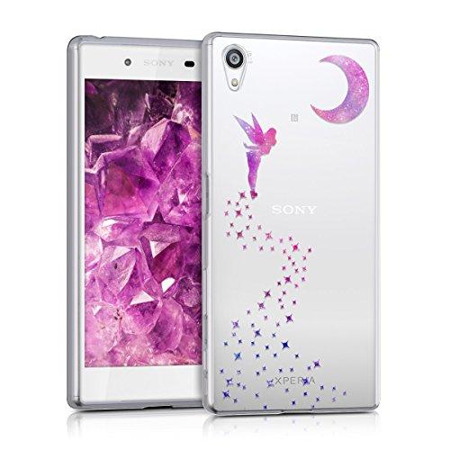 kwmobile Hülle kompatibel mit Sony Xperia Z5 - Handyhülle - Handy Hülle Fee Pink Violett Transparent