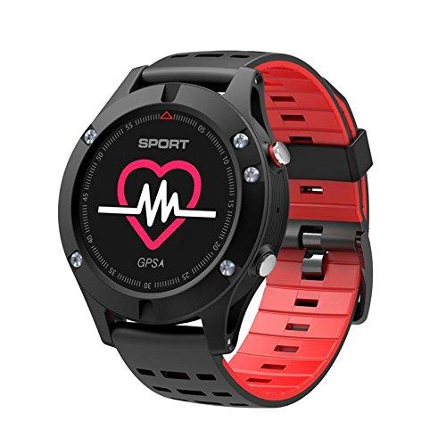 DTNO.1F5 -Smartwatchcon schermo a colori, impermeabilità IP67, tempo di stand-by estremamente lungo, braccialetto per il fitness con GPS, Bluetooth e cardiofrequenzimetro, compatibile con cellulari Android e iOS