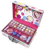 POP GIRL Color Train case - Maletín de Maquillaje - Set de Maquillaje para Niñas - Juguetes Niñas - Selección de Productos Seguros en un Maletín Muy Moderno