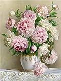DIY 5D diamante pintura peonía icono moderno decoración del hogar completo redondo diamante bordado flores regalos de boda A7 30x40cm
