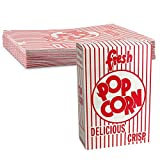Colorful and Fun Carnival Style Striped 6 oz. Cardboard Popcorn Box Great for Movies, Circuses, and Stadium by MT Products (30 Pieces)