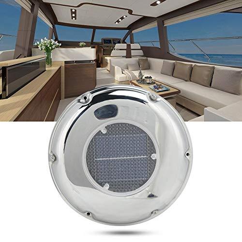 Jacksking Solar Powered Vent/Fan, Stainless Steel Ventilation Fan Boat...