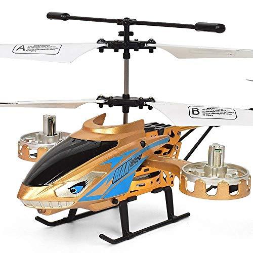 Helicóptero RC para niños, Aeronave RC anticaída de aleación con Mosca Lateral acrobática de 4.5 Canales con Luces LED, Helicóptero RC de Doble hélice, niños