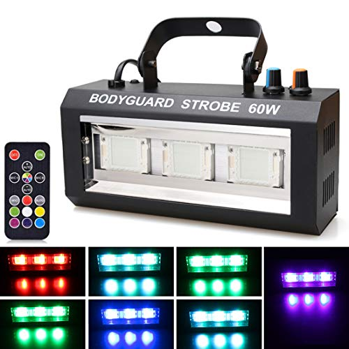 Halloween LED Strobe Light,Sound Activated Party Lights 7 Colors Dj Lighting, RBG Disco Ball Light, Strobe Lamp 7 Modes Stage Par Light for Home Room Dance Parties Bar Karaoke Xmas Wedding Show Club