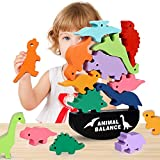 Boys Toys Age 3-7, Dinosaur Stacking Toys Wooden Blocks for Kids Boys Cool Toys for 3-6 Year Old Boys Gifts for 3-7 Year Old Boys Birthday Gifts Toys for Boys Kids Girls Toddlers