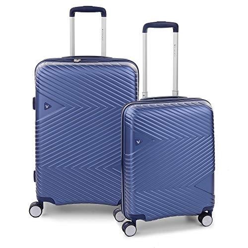 RONCATO Arrow Set 2 maletas rígidas ampliables (medio + cabina) 4 ruedas Tsa Azul
