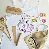 tigerlilyprints Personalised Baking Set, Kids Cooking Set, Personalised Apron & Utensils & bag, Girls Cooking Gifts, Kids Gifts (2-5 years)