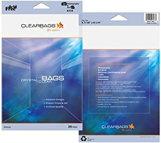ClearBags Seal Top Closure Bags, Perfect Fit for 11x17 Photos, Art Prints, Pictures, Posters | Resealable Adhesive on Bag, Not Flap | Crystal Clear Acid Free, Archival Safe | Pack of 25 (9