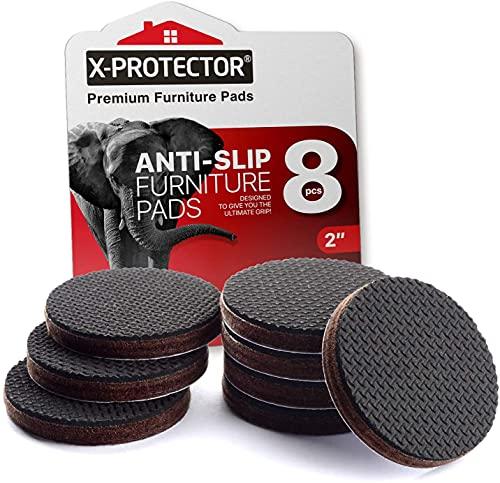 Pies antideslizantes X-PROTECTOR – Primero almohadillas antideslizantes - 8 piezas 50 mm patas de goma - protectores de goma para patas – ideales protectores de piso - mantén tus muebles en su lugar