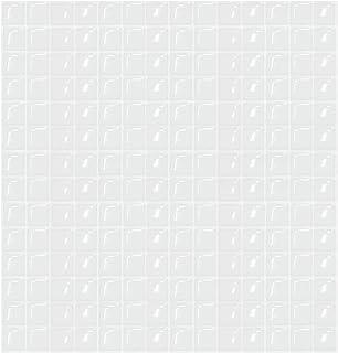 【 Dream Sticker 】 モザイクタイルシール キッチン 洗面所 トイレの模様替えに最適のDIY 壁紙デコレーション BST (ホワイト, 1枚)
