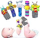 Juguetes Regalos Bebe Bebes Niña para Niños 0-12 Meses, Buscador de Pies y Sonajeros de Muñeca para Bebés Juguetes de Textura de Desarrollo para Bebés y Calcetines de Juguete Regalo para Bebés