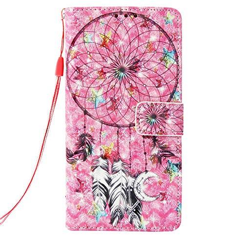 """Mking Tech Estuche de Cuero 3D para el teléfono móvil Samsung Galaxy S10 [6.1""""], Flip/Billetera/Hebilla magnética automática. Funda/Caja dinámica Tridimensional para teléfono móvil."""