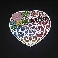 愛のグリーティングカードDIYスクラップブッキング用のカッティングダイクラフト楽しい装飾を作る装飾カード10.7 * 10.3cm