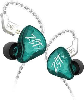 KZ ZST X Cuffie 1BA + 1DD Hybrid Technology Drive HIFI Bass Sport Auricolari DJ Auricolari In-Ear (Senza microfono, Ciano)